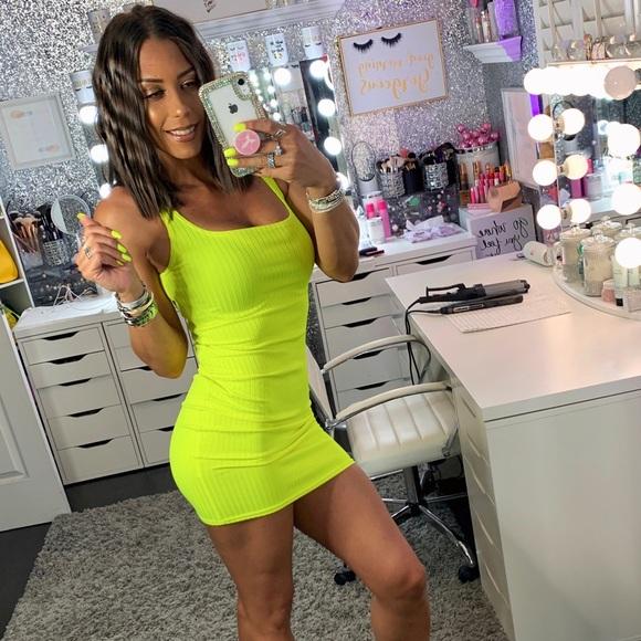 PrettyLittleThing Dresses & Skirts - Neon Yellow Mini Dress